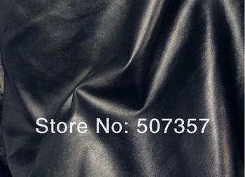 wholesale Black simulation leather fabric / leatherette PU clothing fabric