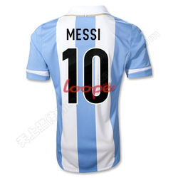 Free Shipping DIY Argentina Soccer Uniform Argentina football Jersey messi Football Uniform Higuain Soccer Shirt Aguero Jersey(China (Mainland))