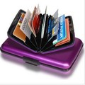 Drop ship Aluminum credit card wallet bank card holder credit card wallet holder BG001