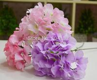 "NEW 16Pcs 52cm/20.47"" Length Long Stem Silk Artificial Single Hydrangea Laurustinus Flower Wedding Home Decoration"