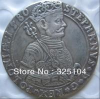 Poland : Litva TALAR - STEPHAN BATORY 1580 coin COPY FREE SHIPPING