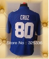 Brand New New York Football Jerseys 80 Victor Cruz White Blue Limited Jerseys