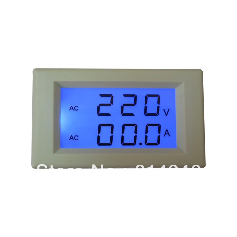 Free shipping , LCD digital AC voltmeter ammeter head(China (Mainland))