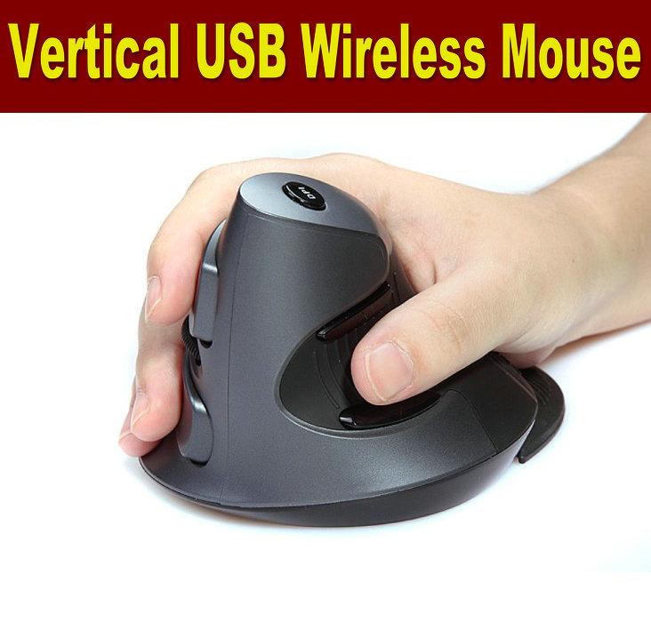 Free Shipping! Brand 1600DPI Optical 2.4g Wireless mouse, usb Wireless vertical Mouse ,ergonomic mouse(China (Mainland))