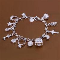 LQ-H144 Free Shipping 925 Silver Bracelet Fashion Jewelry Bracelet  Hanging 13 bracelet aexa iwea