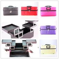Professional Large Capacity Cosmetic Case Makeup Storage Bag 4 Colors