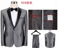 Best Selling!Men's Black/Grey/White Formal Dress Suits Handsome Western Style Coat Pant  S-3XL Wedding Suits