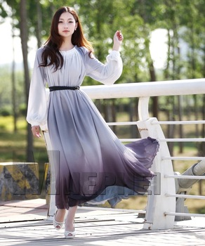 Long Sleeve Chiffon Dress on Long Sleeve Chiffon Dress Long Evening Dress From Reliable Dress Long