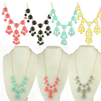 Wholesale Necklaces mini bubble necklaces  for Women mixed colors 12pcs/lot