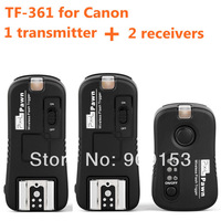 Pixel TF-361 for Canon 1 transmitter+2 receivers wireless remote control/flash trigger for Canon 5D2 5D3 70D 7D 6D 1100D 650D