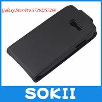 Magnetic Flip Vertical PU Leather Case for Samsung Galaxy Star Pro S7262/S7260,Galaxy Star Pro S7262 leather case+FILM
