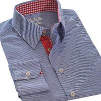 2014  new autumn mens  dress Shirt  long sleeve 100% cotton  stripe  shirts 3color 31018 S M L XL XXL