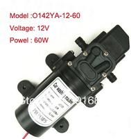 Free shipping,Mini electric diaphragm pump DC12V ,Self-Priming 2.5m,60W,5 L/MIN,0.85mpa.water pump.