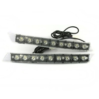 2pcs 9 LED Car LED Daytime Running Light DRL 12V DC Fog Lights