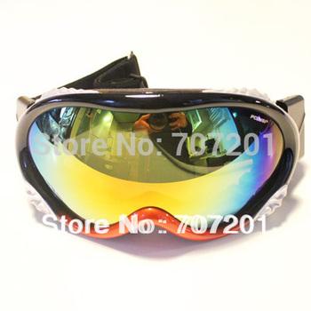 Polisi Ski  Snowboard  Goggles  Mirror  Double  Lens, Free Shipping