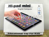 Free shipping New MINI Hi-pad English educational toys, Mini YPad With Blue,Pink,Black&White 4 color Mixed,Music&Light,48PCS/Lot