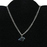 Carolina Panthers Ladies BFF Logo Necklace - Silvertoned