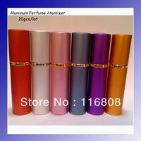 Aliexpress 10-12ml Refillable Travel Spray Scent Bottle Aluminum Perfume Atomizer Bottles 20pcs/lot free shipping