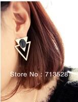 Character Triangle Earrings Stud Earrings For Women Fashion Jewelry Wholesale  Brincos