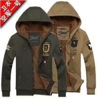 Free shipping !!! 2014 New Men's brand fashion Air force one cardigan napping Hoodies, Sweatshirts jacket Coat / M-XXXL