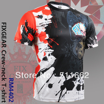 Free Shipping 2013 Only Korean Genuine Fashion Althetic shirts FIXGEAR RM-4402 Tennis Golf T-Shirts  Printing Men's Sports Tee