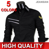 Mens Fashion Cotton Designer Cross Line Slim Fit Dress man Shirts Tops Western Casual S M L XL 0777