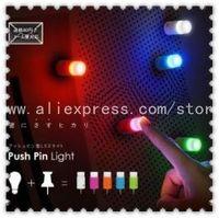 Wholesale Free Shipping 10 pieces /Lot Push pin light One touch light Mini night light LED light Romantic Bar light