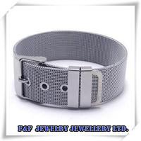 "8.5"" / 21.5cm Men's Silver 316L Stainless Steel Mess Bangle Bracelet Free Shipping B#19"