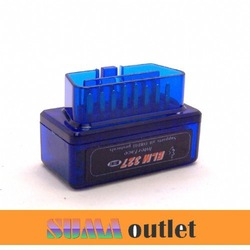 2013 item super mini ELM327 Bluetooth V1.5 OBDII OBD the smallest diagnostic tool fit Android torque(China (Mainland))