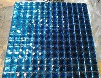 [Mius Art Mosaic]  13 faced diamond  Beveling edge blue mirror glass mosaic tile for backsplash GB014