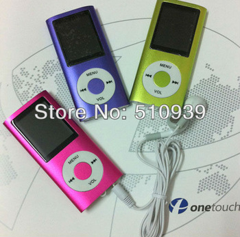 "5pcs/lot Slim 4TH 1.8""LCD MP3/MP4 speaker Video Radio FM Player Support 2GB 4GB 8GB 16GB SD TF Memory Card freeshipping~"