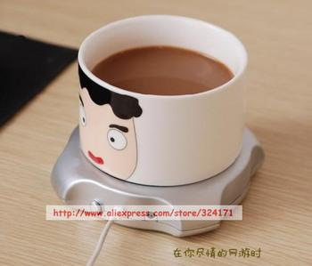 Higi Quality Coffee Tea Cup Warmer Heater PAD OFFICE 4 Port USB Hub Free Shipping