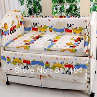 Popular sells cover for 10pc baby crib bedding set, cotton 100% crib bedding sets,size 140*70/130*70  animal cot bedding sets