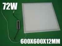 Free shipping good quality low price square led 600x600 ceiling panel light 72w,6000lm, 96-265v (dimmable available)