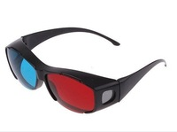 FREE SHIPPING Red Cyan Blue Anaglyph 3D Vision Glasses for 3D Movie Game Video 5pcs/lot