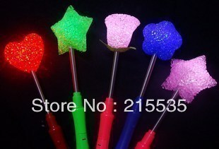 Shaking stick rice lights novelty , head shaking neon  glow  rose lights love stick fgb