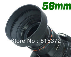 58 mm 58mm 3 in 1 3-Stage Rubber Lens Hood For DSLR Camera for canon for nikon DEC1469 Free Shipping(China (Mainland))