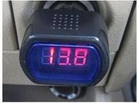 Retial 1pcs/lot  DC 12V / 24V Digital Red LED Auto Car Battery Voltage Voltmeter GAUGE Indicator monitor Meter Tester