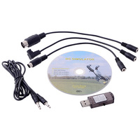 All in 1 Flight simulator Cable for RealFlight FMS Reflex Free Shipping