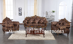 couch European style living room fabric sofa with flower engraved wood frame, multiple color to choose(China (Mainland))