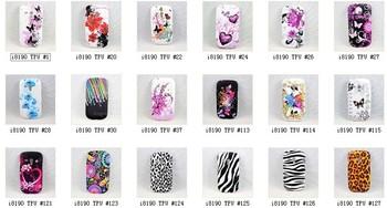 Super Fashion Skin Soft TPU Rubber Silicone Cover Case for Samsung Galaxy S3 SIII Mini i8190,10pcs case+10 free screen protector