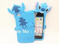 1 PCS Newest 3D Stitch Silicone Back Cover Case For Apple Ipod Touch 4 /4G Free Shipping