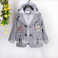 Baby  Hooded Jacket Children Coat Kids Sweater Baby Top 3pc/lot Baby Clothing Clothes