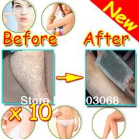 2013 Hot 10Pcs /lot Hair Removal Depilatory Nonwoven Epilator Wax Strip Paper Pad Patch Waxing For Face / Legs / Bikini