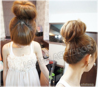 3pcs/lot Hot Sale Big Size Beige Color Bud Head Maker Nylon Net Twist Tool Hair Decoration 9cm 300006