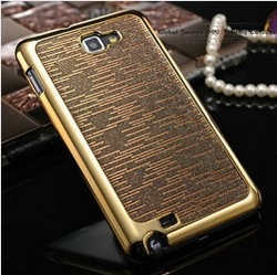 Luxury Bling case for samsung galaxy Note crystal clear housing diamond case for i9220 fashion cases gadget glitter back cover(China (Mainland))