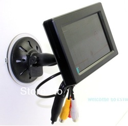 "Free shipping!!4.3"" High Resolution Car Color TFT LCD Camera Monitor 2 Video Input/ Car Holder(China (Mainland))"