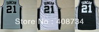 Free shipping-Top Quality #21 Tim Duncan White/Black/Grey jersey,basketball team jerseys