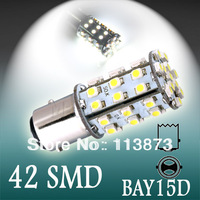 100pcs 1157 BAY15D 42 SMD Pure White Tail Turn Signal 42 LED Car Light Bulb Lamp V100  1157 BAY15D