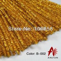 Free Shipping 6x300mm 200pcs Chenille Stems DIY Christmas Decorations Glitter Gold
